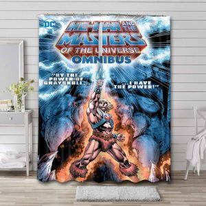 He-Man and the Masters of the Universe Waterproof Shower Curtain Bathroom