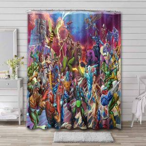 He-Man and the Masters of the Universe Bathroom Curtain Shower Waterproof