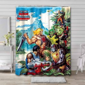 He-Man and the Masters of the Universe Comic Waterproof Bathroom Shower Curtain