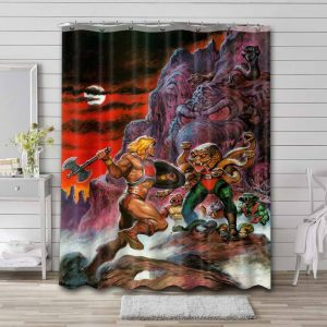 He-Man and the Masters of the Universe Characters Waterproof Curtain Bathroom Shower