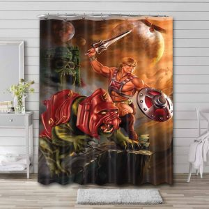 He-Man and the Masters of the Universe Sword Shower Curtain Bathroom Waterproof