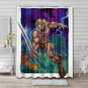 He-Man and the Masters of the Universe Sword Shower Curtain Bathroom Decoration