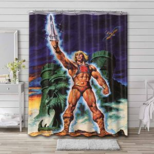 He-Man and the Masters of the Universe Sword Shower Curtain Waterproof Polyester