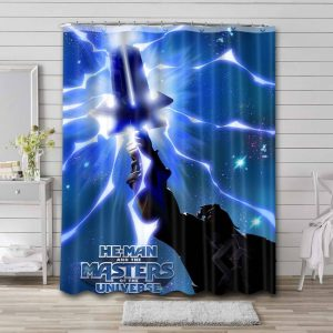 He-Man and the Masters of the Universe Comic Bathroom Curtain Shower Waterproof