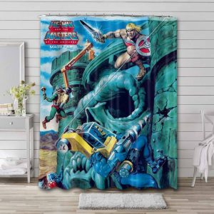 He-Man and the Masters of the Universe Shower Curtain Bathroom Waterproof
