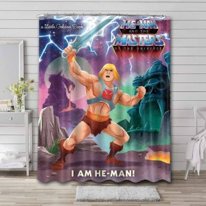 He-Man and the Masters of the Universe Cartoon Waterproof Shower Curtain Bathroom