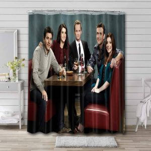 How I Met Your Mother TV Series Shower Curtain Bathroom Decoration
