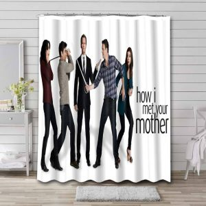 How I Met Your Mother TV Series Shower Curtain Waterproof Polyester