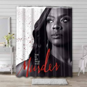 How to Get Away with Murder Bathroom Shower Curtain Waterproof