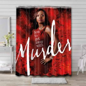 How to Get Away with Murder Waterproof Bathroom Shower Curtain