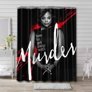How to Get Away with Murder Bathroom Curtain Shower Waterproof