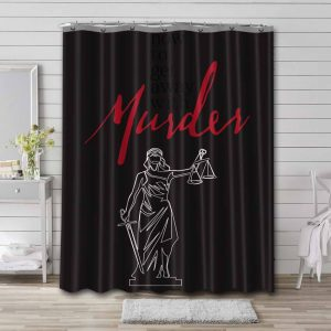 How to Get Away with Murder Waterproof Curtain Bathroom Shower