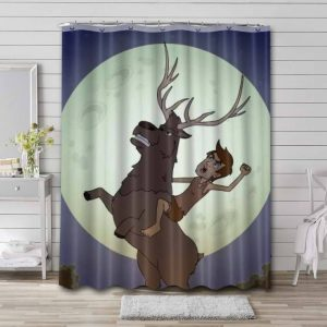 Human Discoveries Shower Curtain Bathroom Decoration Waterproof Polyester Fabric.