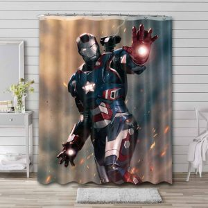 Iron Patriot Shower Curtain Waterproof Polyester