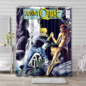 Jonny Quest Characters Shower Curtain Waterproof Polyester