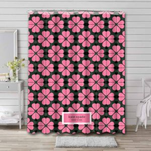 Kate Spade Floral Shower Curtain Waterproof Polyester