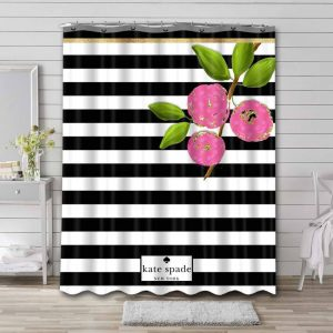 Kate Spade Stripes Shower Curtain Waterproof Polyester