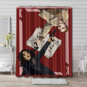 Killing Eve Shower Curtain Waterproof Polyester