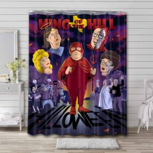 King of the Hill Waterproof Bathroom Shower Curtain
