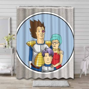 King of the Hill Bathroom Curtain Shower Waterproof