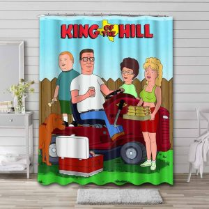 King of the Hill Waterproof Curtain Bathroom Shower