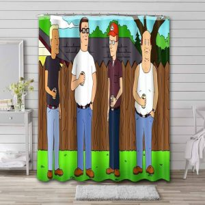 King of the Hill Shower Curtain Bathroom Waterproof