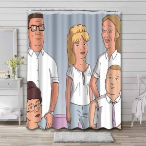 King of the Hill Shower Curtain Bathroom Decoration Waterproof Polyester Fabric.