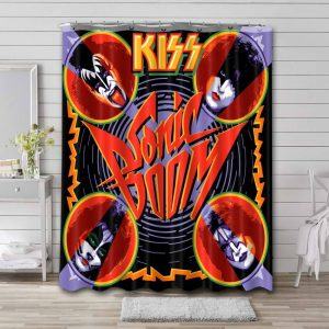 Kiss Sonic Shower Curtain Waterproof Polyester