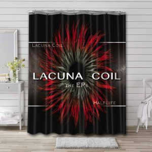 Lacuna Coil Half Life Shower Curtain Waterproof Polyester