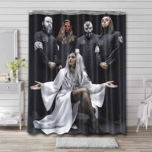 Lacuna Coil Rock Band Shower Curtain Waterproof Polyester