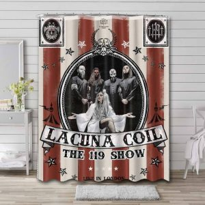 Lacuna Coil Shower Curtain Waterproof Polyester