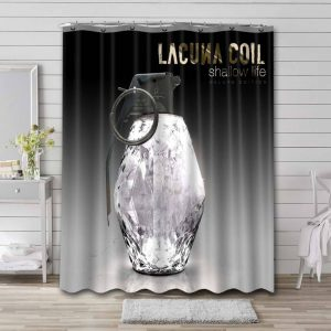 Lacuna Coil Shower Curtain Bathroom Decoration Waterproof Polyester Fabric.