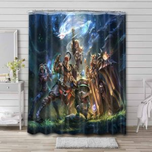 League of Legends Game Shower Curtain Waterproof Polyester