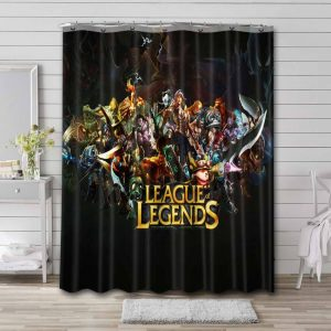 League of Legends Characters Shower Curtain Waterproof Polyester