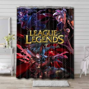 League of Legends Game Characters Waterproof Shower Curtain Bathroom