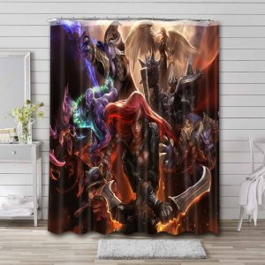 League of Legends Game Characters Waterproof Bathroom Shower Curtain