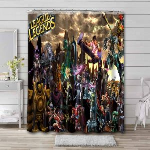 League of Legends Shower Curtain Bathroom Decoration Waterproof Polyester Fabric.