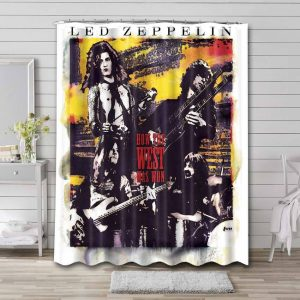 Led Zeppelin How The West Was Won Bathroom Curtain Shower Waterproof