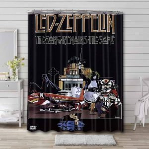 Led Zeppelin The Song Remains The Same Waterproof Curtain Bathroom Shower