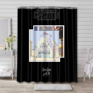 Led Zeppelin The Song Remains The Same Shower Curtain Bathroom Decoration