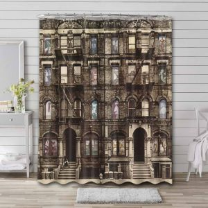 Led Zeppelin Physical Graffiti Shower Curtain Waterproof Polyester