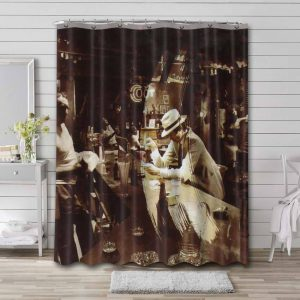 Led Zeppelin In Through the Out Door Waterproof Shower Curtain Bathroom