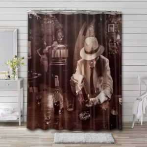 Led Zeppelin In Through the Out Door Waterproof Bathroom Shower Curtain