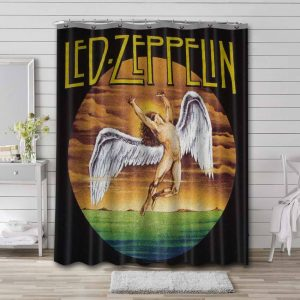 Led Zeppelin Icarus Shower Curtain Waterproof Polyester