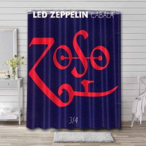 Led Zeppelin Cabala 3/4 Shower Curtain Waterproof Polyester