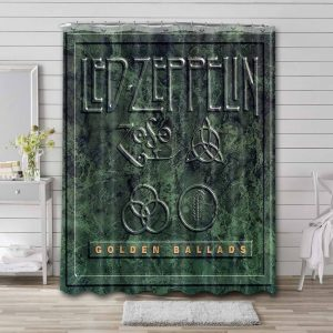 Led Zeppelin Shower Curtain Bathroom Decoration Waterproof Polyester Fabric.