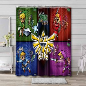 The Legend of Zelda Game Characters Shower Curtain Bathroom Decoration