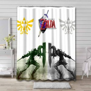 The Legend of Zelda Ocarina Of Time Shower Curtain Waterproof Polyester