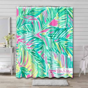 Lilly Pulitzer Tropical Storm Waterproof Bathroom Shower Curtain