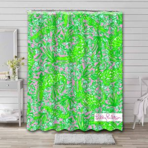Lilly Pulitzer See Ya Later Shower Curtain Waterproof Polyester